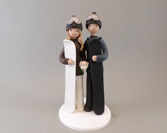 Custom Made Snowboard/ Ski Theme Wedding Cake Topper