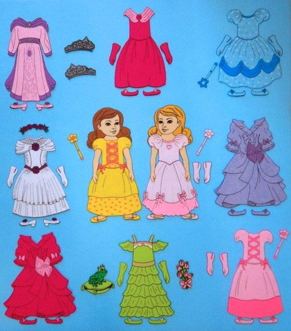 Pretty Princess - Felt Board Set - Felt Paper Dolls. SO CUTE