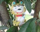 SALE Vintage Alan Jay Baby Tiger Cat Squeak Squeeze Toy