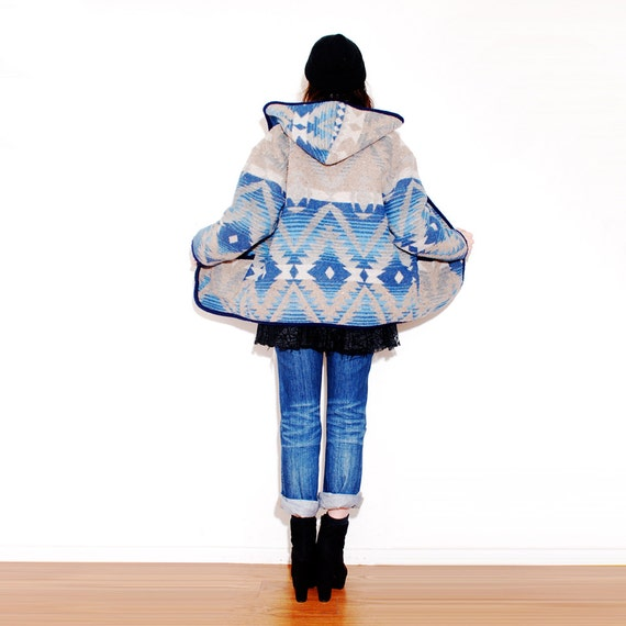 Southwestern Blanket Jacket Wool Coat Winter Coat Native