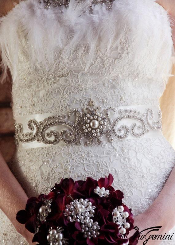 Wedding Sash Belt Vintage, Bridal Belt Vintage, Bridal Belt Pearl, Wedding Sash Pearl, Sash Belt, Crystal Sash, Crystal Wedding Sash