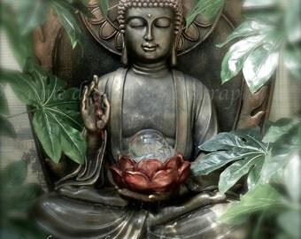 Buddha Wall Art, Zen Art Buddha Photography, Boho Artwork, Zen Decor,Green Buddha Print,Meditation Art,Buddha Art,Yoga Art Buddah,Boho Decor