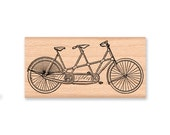 BIKE or BICYCLE STAMP Bicycle Built for Two Tandem Rustic Wedding Invitation Save the Date Invitations Thank You Favors (32-34) (32-33)