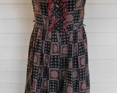 vintage 60s ruffle front summer day dress
