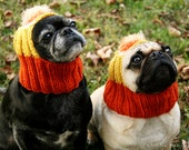 READY to SHIP - Size Medium - Candy Corn Dog Hat - Pug Hat - Dog Hats - Pug Hats - Dog Costume - Pug Costume - Dog Halloween Costume