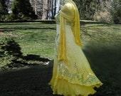 Hand painted Silk dress Lavander