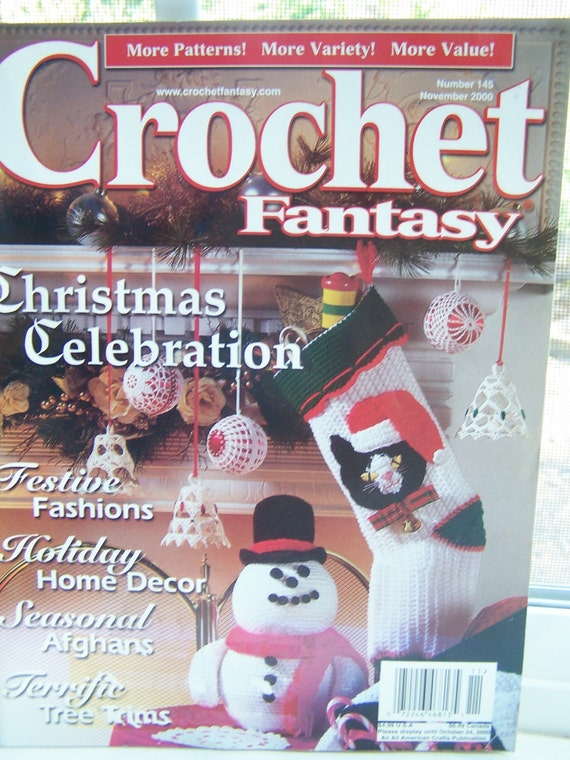 SALE Crochet Fantasy Magazine November 2000, 19 Quick and Easy ...