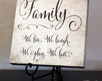 Family Square Canvas Wrap