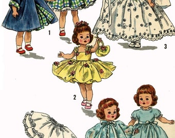 Vintage Doll Clothes PATTERN 2294 for 8 in Ginny Muffie Alexander Kins by Vogue 1950s