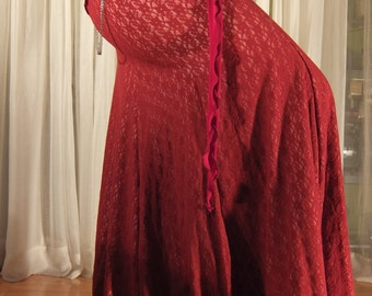 Mermaid skirt - YOUR SIZE - Red lace flesh lining