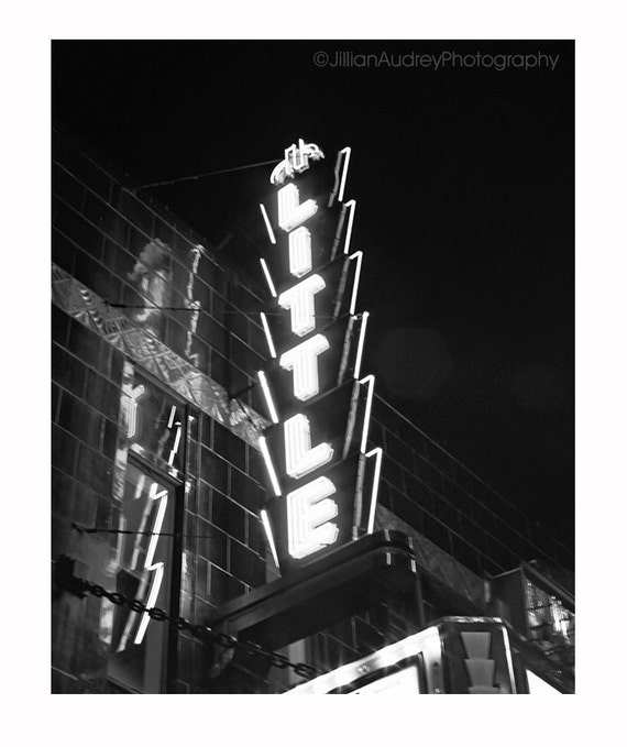 Gray White Urban Contemporary Modern Minimalism High Tech: Black And White Photography Art Deco Theater Sign