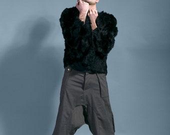 "Harem pants dark grey, Baggy man, ninja pants ""NIGHTMARE"""