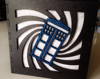 Doctor Who T.A.R.D.I.S. swirl light box - 4.5""