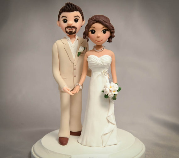 personalised wedding cake figurines items similar to wedding cake toppers cake toppers 18233