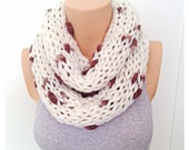 Handmade Infinity Eternity Scarf Noodle Long Scarves Cotton Fashion Neckwarmer Circle Necklace Chunky Cowl Brown Beige