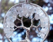 Moonstone Tree of Life Pendant - June Birthstone with Recycled Sterling Silver - Original Design by Ethora