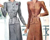 Vintage 1940s McCall 4090 Women's Suit  Sewing Pattern    Bust 32