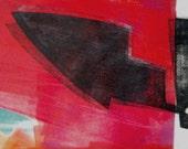 Contemporary Fine Art Abstract Monoprint : Calibration