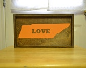 Handpainted Wood Sign Tennessee Love