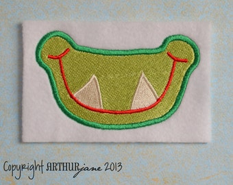 Pointy Smile, INSTANT DIGITAL DOWNLOAD, Embroidery Design for Machine Embroidery 4x4