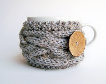 Knitting PATTERN, Coffee Cup Cozy Pattern, Tea Cozy Pattern, Mug Cozy Pattern Coffee Cozy Sleeve Pattern