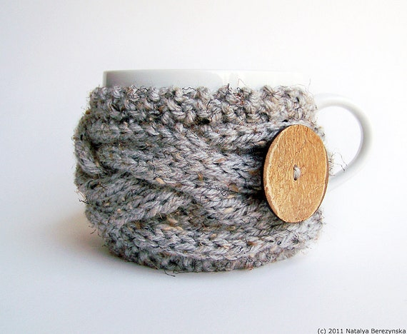 Knitting PATTERN Coffee Cup Cozy Pattern Tea Cozy Pattern