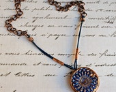 Rustic Boho Bead and Leather Necklace