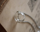 Glass Sphere Necklace - Glass Bubble Necklace - Crystal Ball Necklace - Bubble Necklace - Glass Orb Necklace