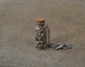 Large Keepsake Bottle with Collected Sea Shells Pendant/Necklace