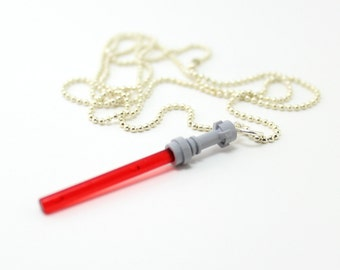 Red Light Saber Necklace made from LEGO® Star Wars Pieces
