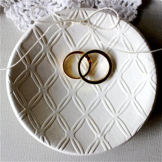 Tie The Knot Wedding Ring Dish Ring Pillow By RedPunchBuggyonEtsy