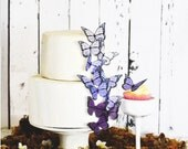 Wedding Cake Topper Edible Ombre Monarch Butterflies - Butterfly Cake & Cupcake Toppers - Food Decorations - Large Purple Shown