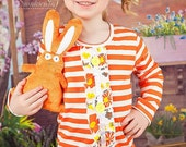 Orange Little Bunny Fufu Minky Dot Rice Bag Bunny