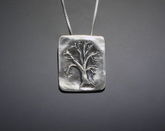 Silver Oak Tree of Life Necklace