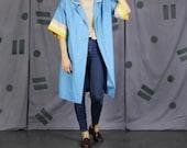Pastel Blue Peacoat Dress - Medium / Large
