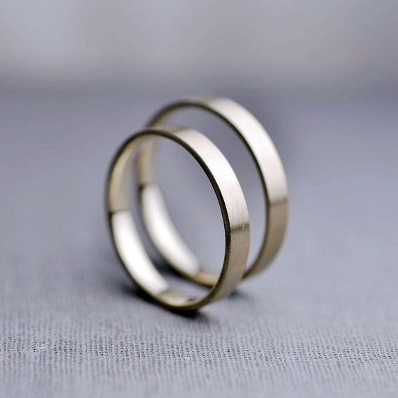 Items Similar To Recycled 14k Gold Wedding Ring Set