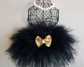Black and Gold Tutu Triple layer for Birthdays, photos & weddings