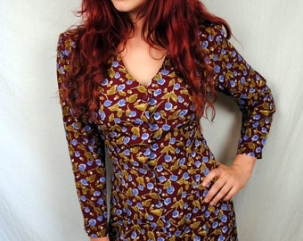 Vintage 80s 90s The Limited - Floral Mini Dress