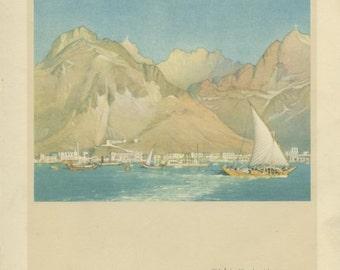 India, Vintage Print, 1931, Donald Maxwell, Rudyard Kipling: East of Suez, Indian Ocean, Old Aden