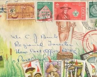 Holiday Ranger and His Mushroom Elves Postcard