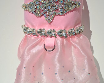 Dog Dress - Paris Pink Princess Bling