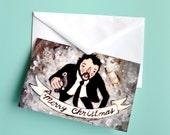 Hans Gruber - Die Hard Christmas Card - Hans Falling to his Death - Alan Rickman
