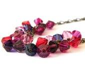 Swarovski Neckace, Swarovski Crystals, Autumn Necklace, Fall Necklace