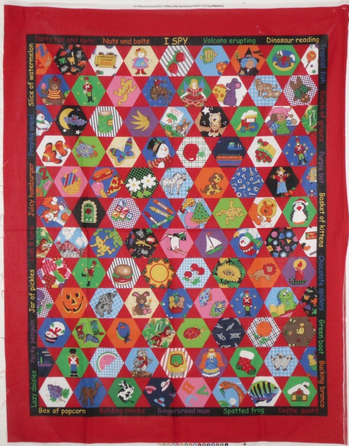 I Spy Quilt Top Cheater Fabric Panel