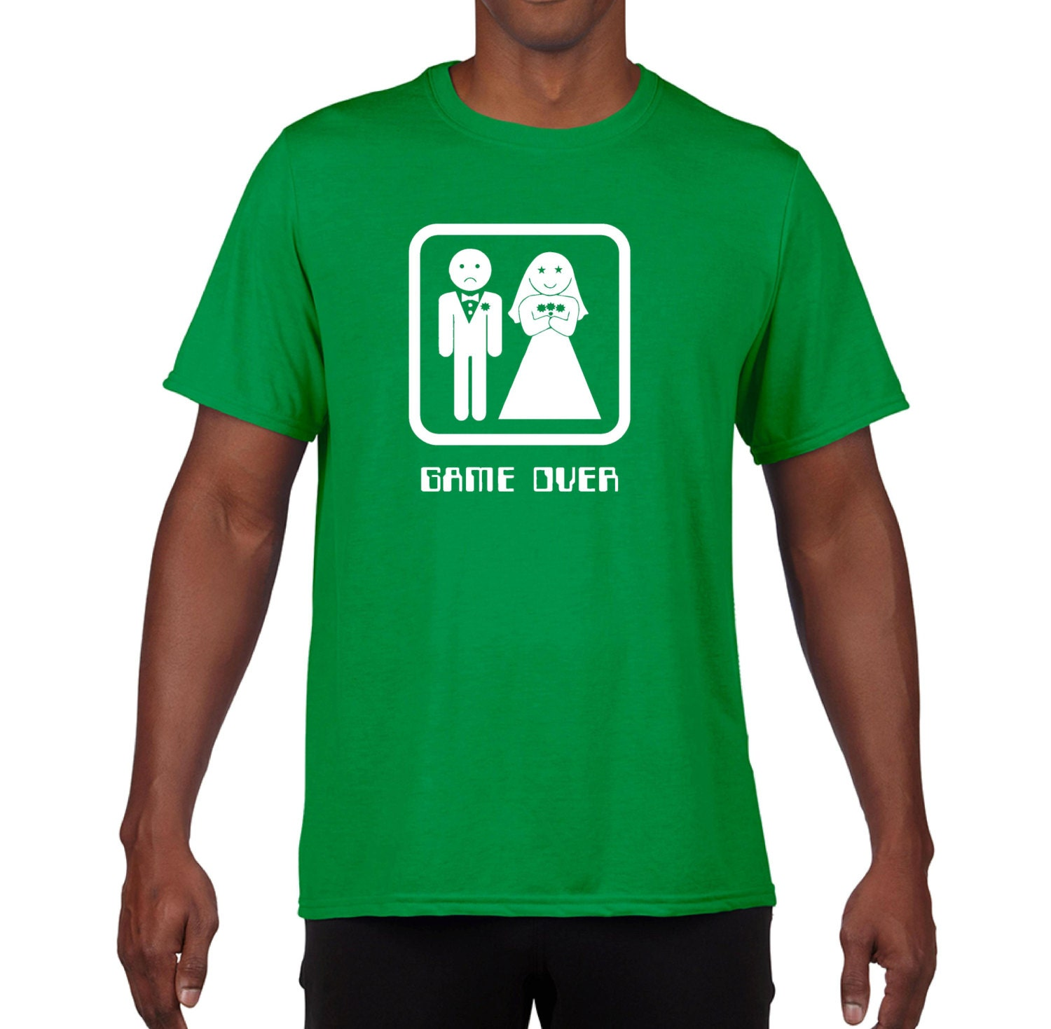 GAME OVER T Shirt Wedding Funny Tuxedo Bachelor By Foultshirts