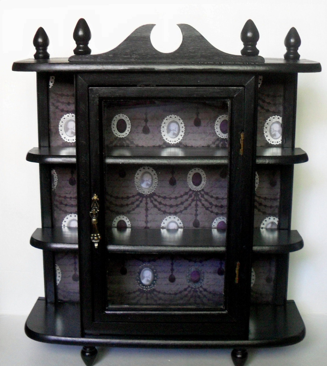 Gothic Curio Cabinet Gothic Home Decor Wall Cabinet
