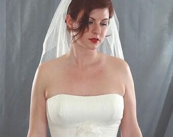 Point D'Esprit Veil, Dotted Veil, Wedding Veil