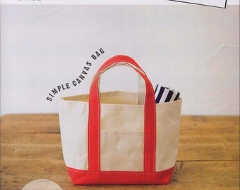 TANDEY Canvas Tote Bag Shoulder Bag Pattern Japanese Sewing
