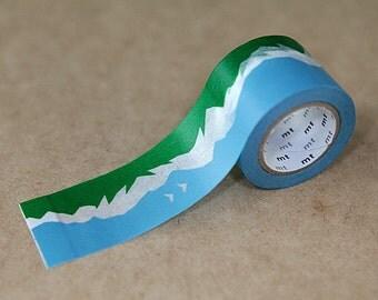 Mountain, Mina Perhonen, Japanese mt Washi Paper Masking Tape, Adhesive Tape, Card Decoration, Journal Washi, Planner Deco,  mtmina11