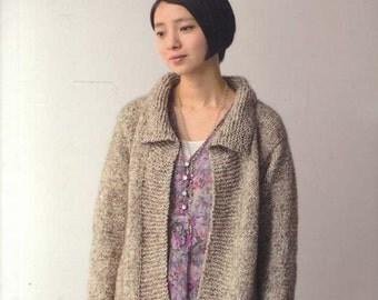 Light & Comfortable Knit Wear - Japanese Knitting Pattern Book for Feminine Women Clothes, Easy Knitting Tutorial, Vest, Cardigan, B1321